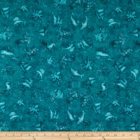 QT Fabrics  Smooth Sailing Nautical Blender Teal