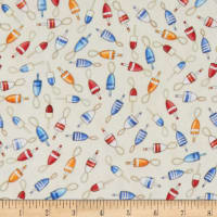 QT Fabrics  Smooth Sailing Buoys Cream