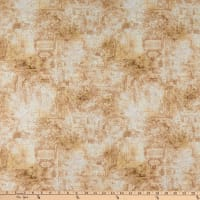 QT Fabrics  Smooth Sailing Map Blender Dark Tan