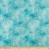 QT Fabrics  Smooth Sailing Map Blender Turquoise