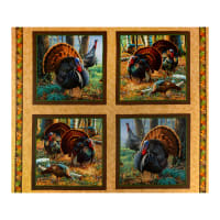 "QT Fabrics Turkey Hill Turkey 36"" Picture Patches Multi"