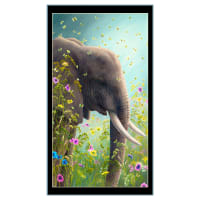 "QT Fabrics Artworks XII Elephant 24"" Panel Multi"