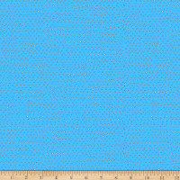 QT Fabrics Ink & Arrow Chilly Dogs Square Dot Blender Blue