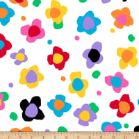 QT Fabrics  Evie Tossed Floral White