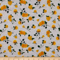 QT Fabrics This & That I Yellow Roses Parchment