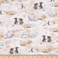 QT Fabrics Woodland Cuties Woodland Cuties Scenic Tan
