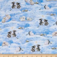 QT Fabrics Woodland Cuties Woodland Cuties Scenic Blue