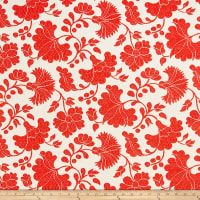 AMERICAN MADE Artistry Otomi Inspired Flower Jacquard Red