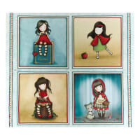 "QT Fabrics My Story Large 36"" Picture Patches Multi"