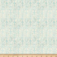 QT Fabrics My Story Brocade Light Blue