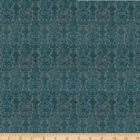 QT Fabrics My Story Brocade Dark Blue
