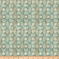 QT Fabrics Lake Caribou Medallion Geometric Dark Aqua