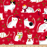 Ink & Arrow Meowy Christmas Christmas Cats Red