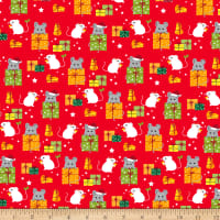 Ink & Arrow Meowy Christmas Mice & Gifts Red