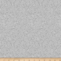 QT Fabrics Pretty Poinsettias Scroll Grey