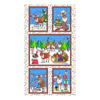 "QT Fabrics Reindeer Antics Reindeer Antics 24"" Panel Multi"