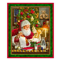 "QT Fabrics Santa's List Santa 36"" Panel Multi"