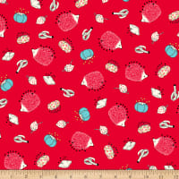 Ink & Arrow Sew What? Pin Cushion Toss Red
