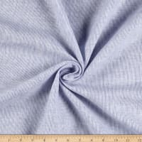 100% Linen Hairline Stripe Blue