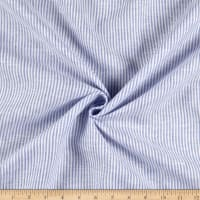 100% Linen Candy Stripe Blue