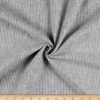 Linen Cotton Blend Double Stripe Navy