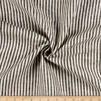 100% Linen Bengal Stripe Black