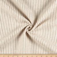 100% Linen Bengal Stripe Natural