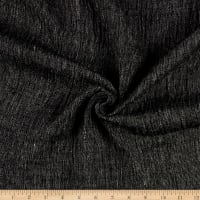 Puckered Linen Semi Black