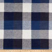 Puckered Linen Blue Multi