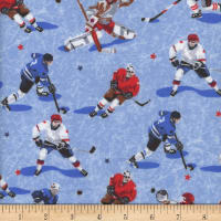 Mook Flannel Hockey Players Light Blue