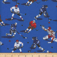 Mook Flannel Hockey Players Royal