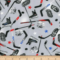 Mook Cotton Hockey Stick Helmets Pucks Grey