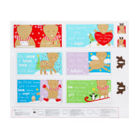 "Huggable & Lovable 36"" Panel Holiday Book Multi"