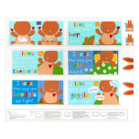 "Huggable & Lovable 36"" Panel Kangaroo Book Multi"