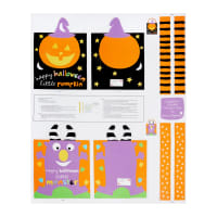 "Huggable & Lovable 36"" Panel Trick Or Treat Bags Multi"