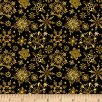 Christmas Joy Snowflake Black With Metallic