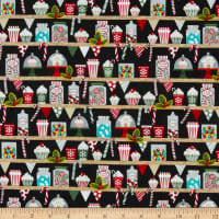Yuletide Cheer Sweet Treats Shelves Black