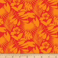 Gone Wild Tropical Foliage Orange