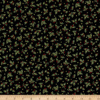 Andover/Makower UK Deck the Halls Leaf Spray Black