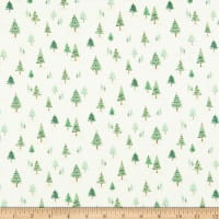 Andover/Makower UK Twelve Days Mini Trees Cream