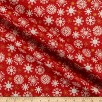 Andover/Makower UK Merry Snowflakes Red