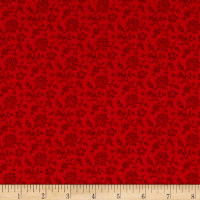 Andover Riviera Rose Floral Lines red