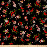 Andover Mistletoe Cardinals Black