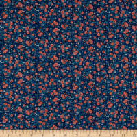 Andover/Makower UK Stitch in Time Ditzy Floral Blue