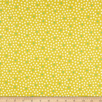 Andover/Makower UK A Walk in the Park Hearts Chartreuse