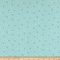 Andover/Makower UK A Walk in the Park Hearts Teal