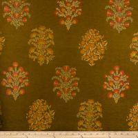 Fabricut Camelia Faux Silk Curry