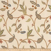 Fabricut Outlet Shannah Embroidered Trail Teastain