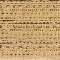 AMERICAN MADE Artistry Tribal Southwest Bogola Mud Cloth Quilted Jacquard Amber
