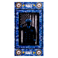 Military Navy Cotton Panel Navy